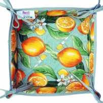 Vide poches en tissu, imprimé provençal Citron vert