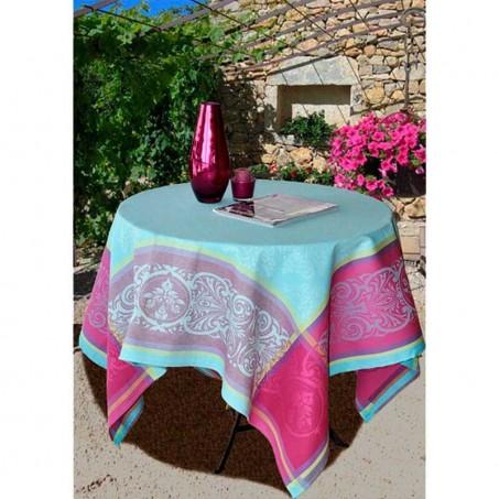 Square table cloth Jacquard Renaissance blue