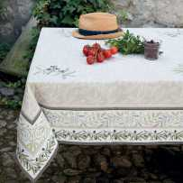 Rectangular tablecloth woven Jacquard Auriol