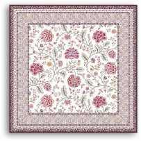 Tapis de table carrée Montespan lilas