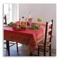 Square red tablecloth, Avignon framed, Marat d'Avignon