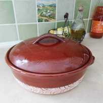 Casserole dish with lid made in Vallauris