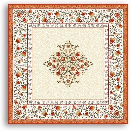 Table mat Jacquard woven Aubrac orange