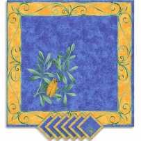 Serviettes de table carrées, imprimé Cigales