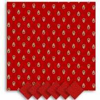 Serviettes de table carrées, imprimé Avignon rouge